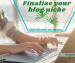 Finalize your blog niche